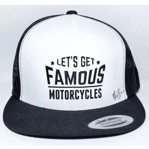 The Classic Accessories - Lets Get Famous Motorcycles Snapback Trucker Hat